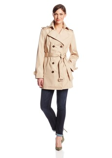 Calvin Klein Women's Short Double Breasted Trench Coat