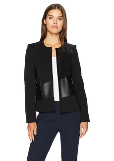 Calvin Klein Women's Short Jacket With Suede and PU