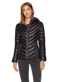 Calvin Klein Women's Short Packable Featherweight Down Coat  S