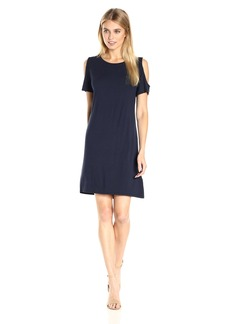 Calvin Klein Women's Short-Sleeve Cold Shoulder Dress  L