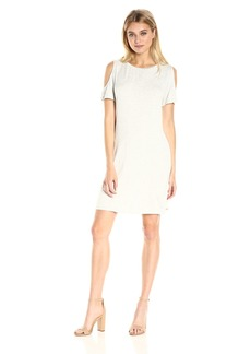 Calvin Klein Women's Short-Sleeve Cold Shoulder Dress  M