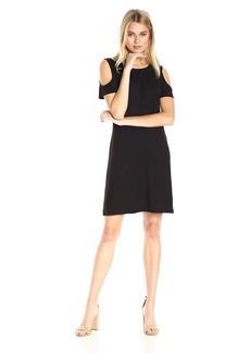 Calvin Klein Women's Short-Sleeve Cold Shoulder Dress  S