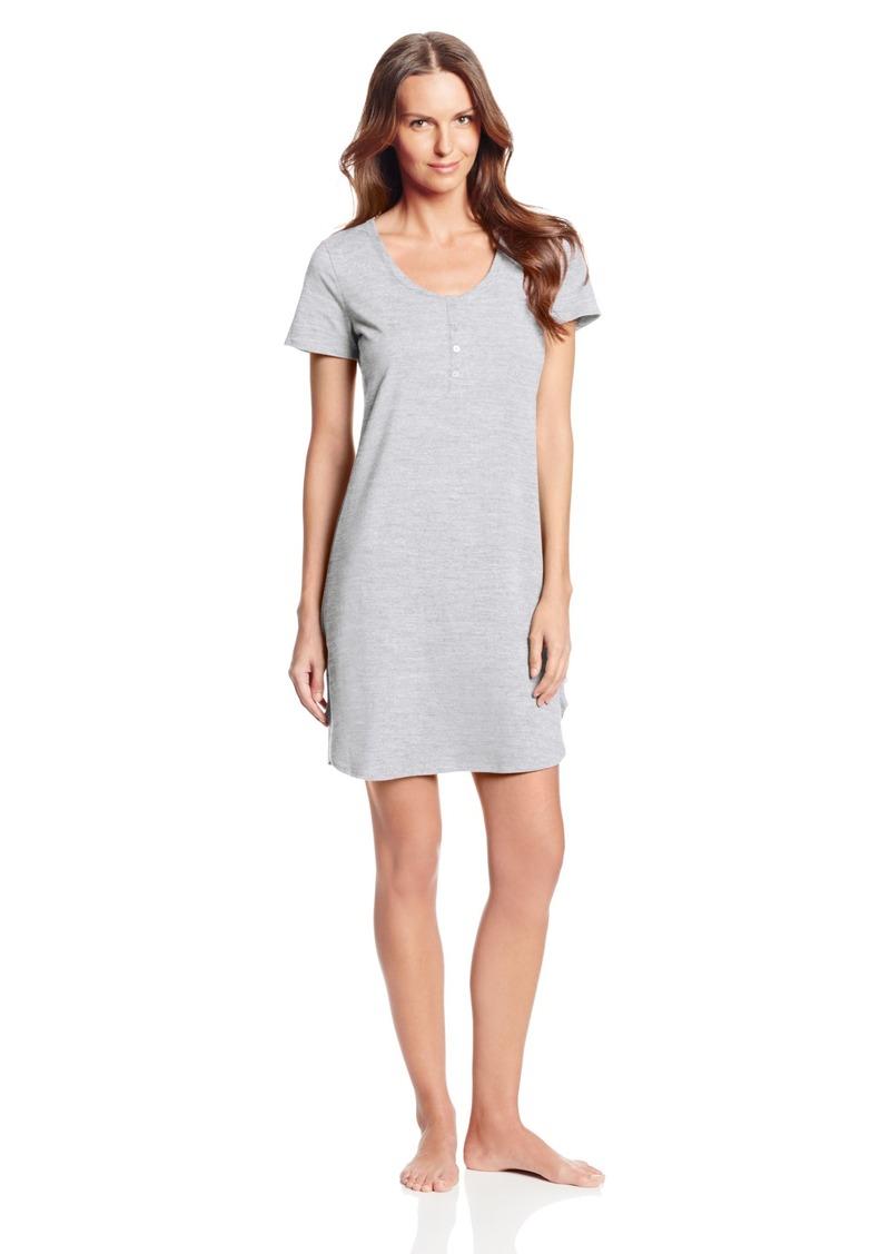 Calvin Klein Women's Short Sleeve Cotton Nightshirt