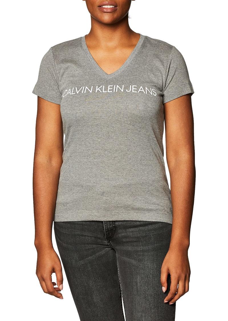 Calvin Klein Women's Short Sleeve Cropped Logo T-Shirt