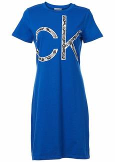 Calvin Klein Women's Short Sleeve Logo T-Shirt Dress  S