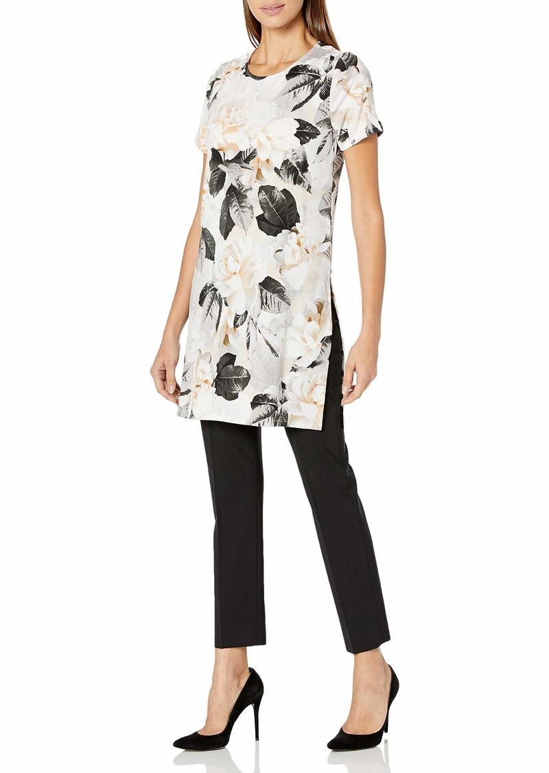 Calvin Klein Women's Short Sleeve Long Tunic tin Combo