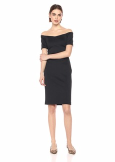 Calvin Klein Women's Short Sleeve Off The Shoulder Sheath Dress