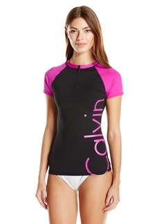 Calvin Klein Women's Short Sleeve Rash Guard  L