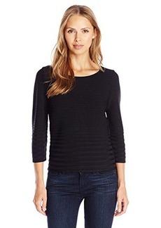 Calvin Klein Women's Short Sleeve Ribbed Sweater  X-Large
