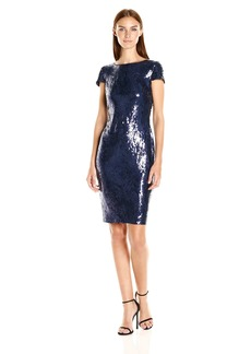 Calvin Klein Women's Short Sequin Sleeve Dress