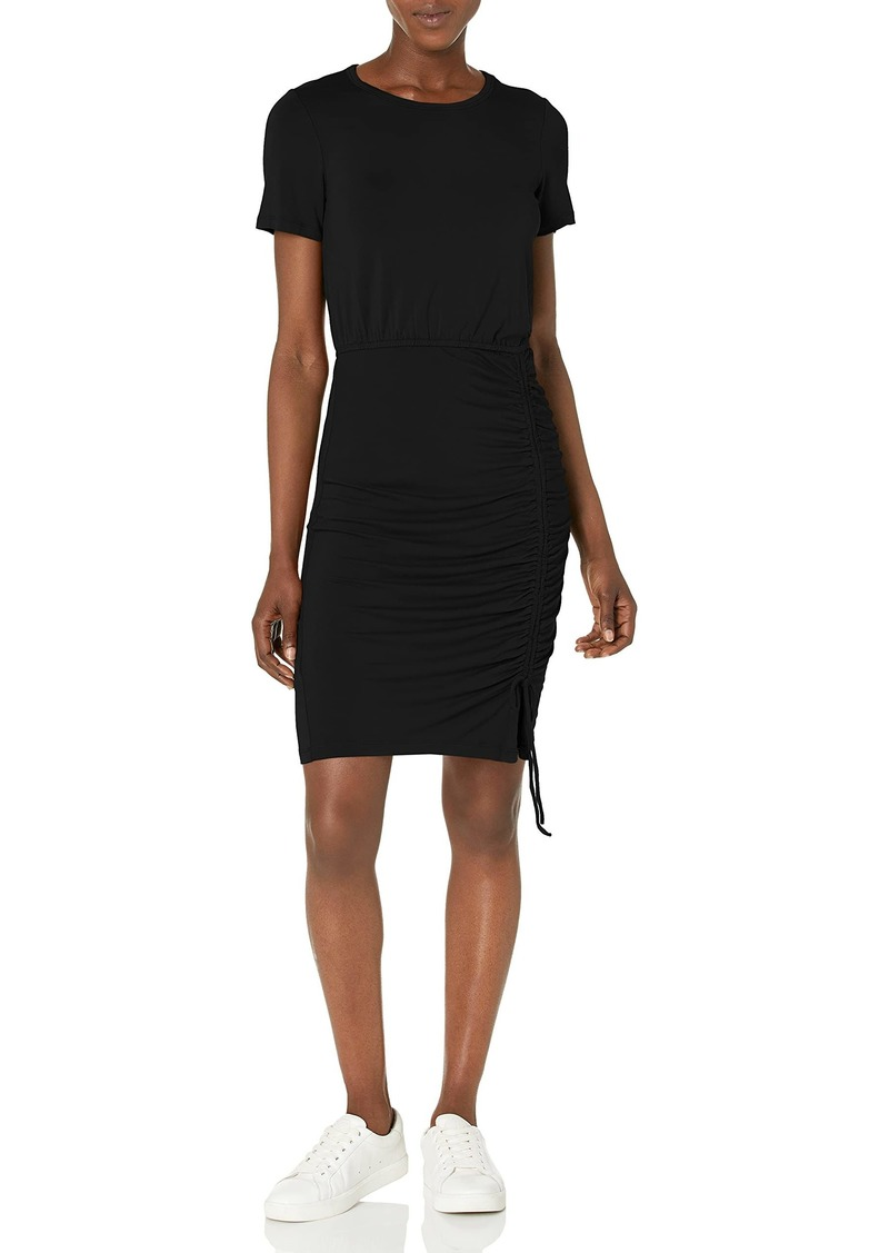 Calvin Klein Women's Short Sleeve Sheath with Ruched Skirt