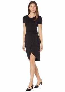 Calvin Klein Women's Short Sleeve Sheath with Wrap Skirt