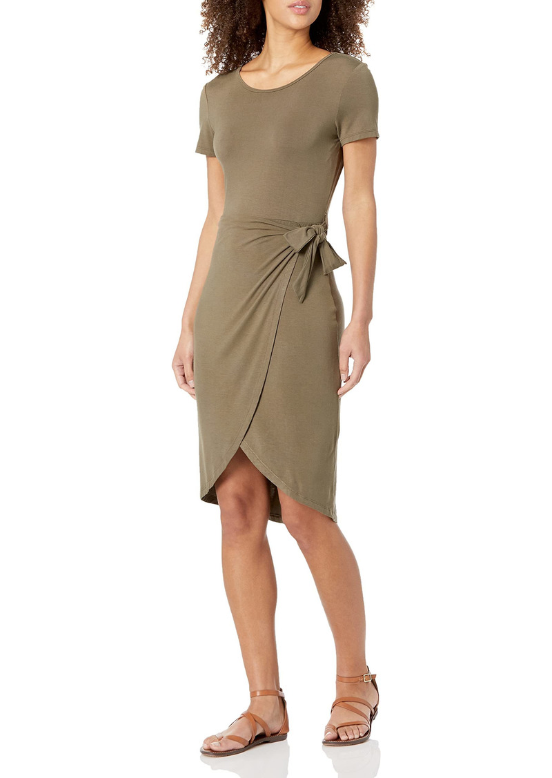 Calvin Klein Women's -Short Sleeve Sheath with Wrap