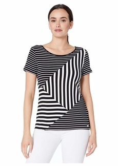 Calvin Klein Women's Short Sleeve Stripe TEE