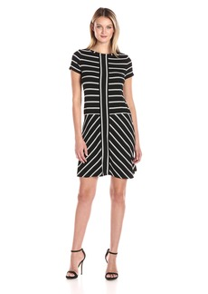 Calvin Klein Women's Short-Sleeve Striped T-Shirt Dress  M
