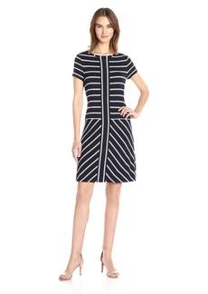 Calvin Klein Women's Short-Sleeve Striped T-Shirt Dress  XS