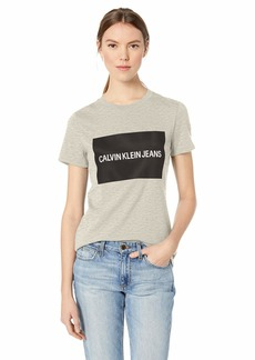 Calvin Klein Women's Short Sleeve T-Shirt Institutional Logo
