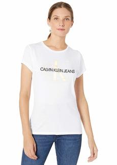 Calvin Klein Women's Short Sleeve T-Shirt Monogram Logo