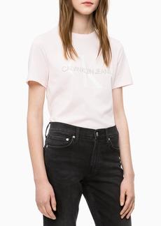 Calvin Klein womens Short Sleeve T-Shirt Monogram Logo rosewater M