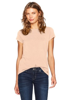 Calvin Klein Women's Short Sleeve TEE with Middle Logo  L
