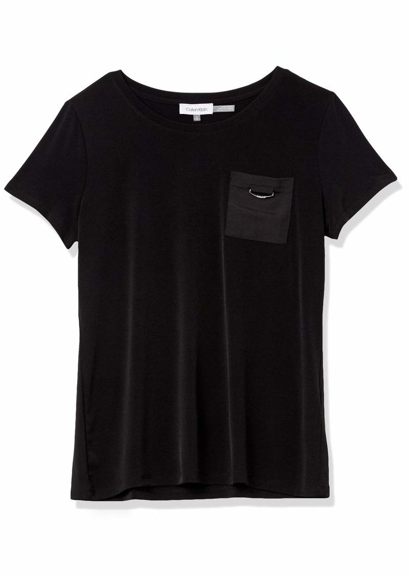 Calvin Klein Women's Short Sleeve Tee with Pocket