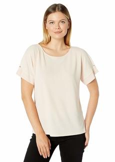 Calvin Klein Women's Short Sleeve TOP with CDC Combo