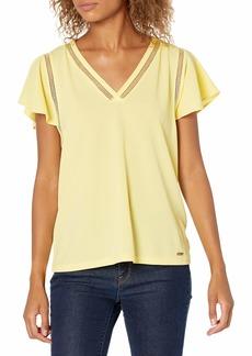 Calvin Klein Women's Short Sleeve V Neck