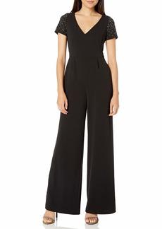 Calvin Klein Women's Short Sleeve V-Neck Jumpsuit