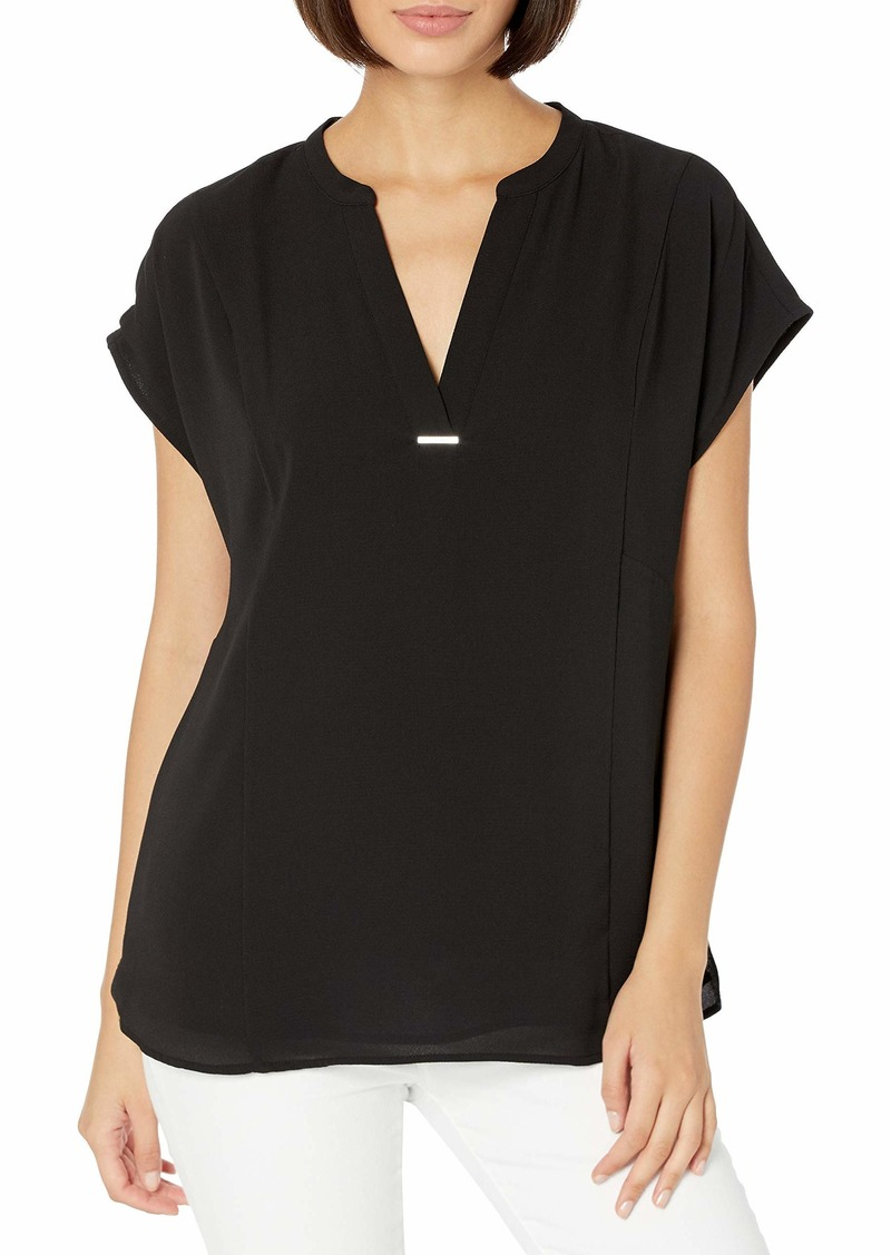 Calvin Klein Women's Short Sleeve V Neck Shirt