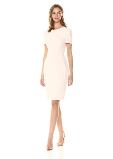 Calvin Klein Women's Short Sleeved Princess Seamed Sheath Dress