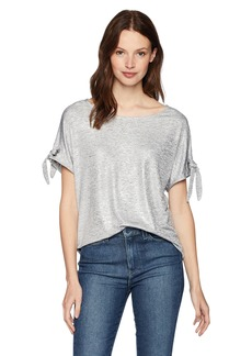 Calvin Klein Women's Short TEE with TIE Sleeves  M