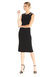 Calvin Klein Women's Shoulder Cut Out Sheath Dress