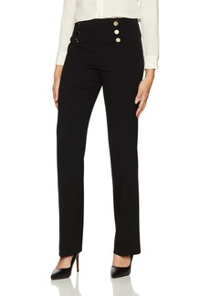 Calvin Klein Women's Side Zip Pant with Buttons