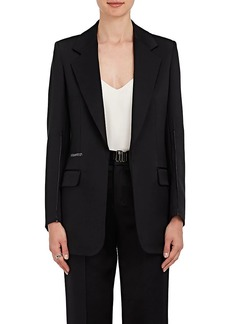 Calvin Klein Women's Silk-Wool Satin Blazer
