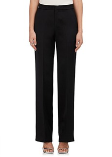 Calvin Klein Women's Silk-Wool Satin Trousers