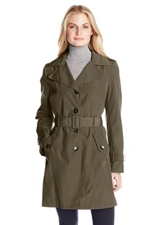 Calvin Klein Women's Single Breasted Classic Trench Coat