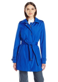 Calvin Klein Women's Single Breasted Soft Shell Trench Coat With Epiplets  L