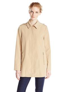 Calvin Klein Women's Single Breasted Topper Rain Coat  edium
