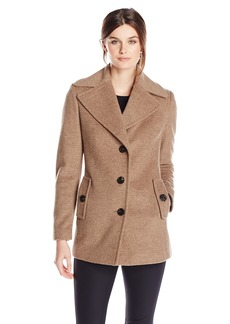Calvin Klein Women's Single Breated Wool Coat