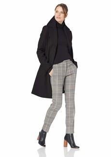 Calvin Klein Women's Single Breasted Spread Collar Wool Jacket BLACK