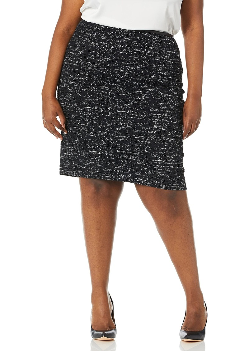 Calvin Klein Women's Size Ponte Printed Skirt