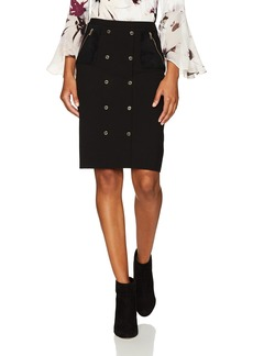 Calvin Klein Women's Skirt with Suede and Snaps