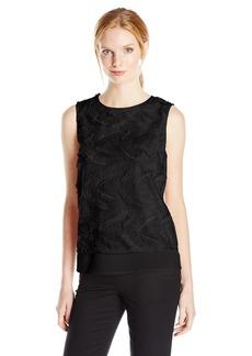 Calvin Klein Women's S/L Feather Texture Top