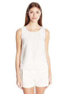 Calvin Klein Women's S/l Floral Lace Blouse