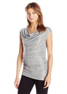 Calvin Klein Women's S/l Metallic Top with Angle Bottom  L
