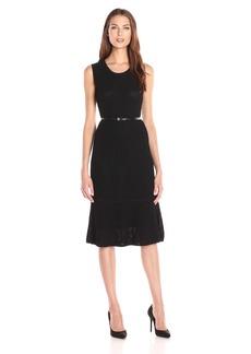 Calvin Klein Women's S/l Midi Sweater Dress
