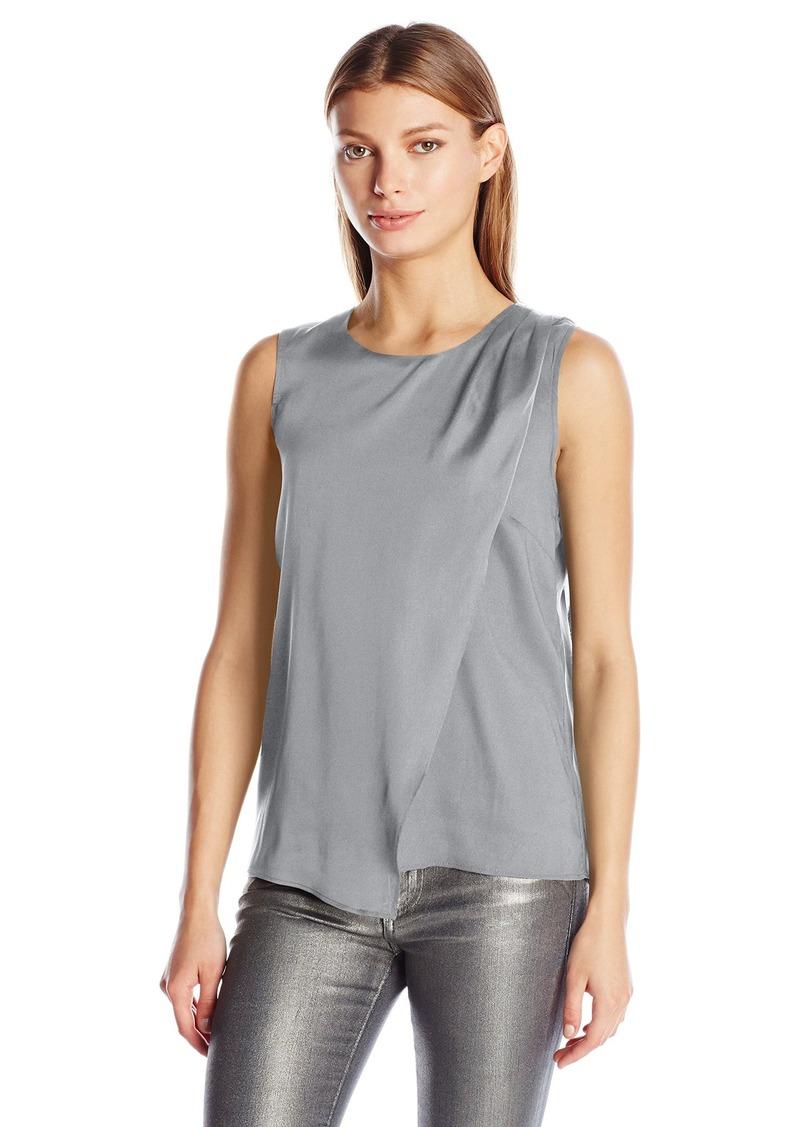Calvin Klein Women's S/l Pleated Drape Top  L