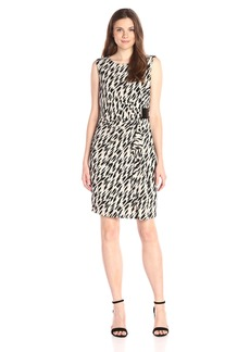 Calvin Klein Women's S/l Print Wrap Dress