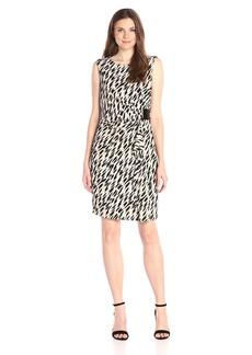 Calvin Klein Women's S/l Print Wrap Dress