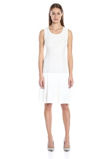 Calvin Klein Women's S/l Ribbed Sweater Dress